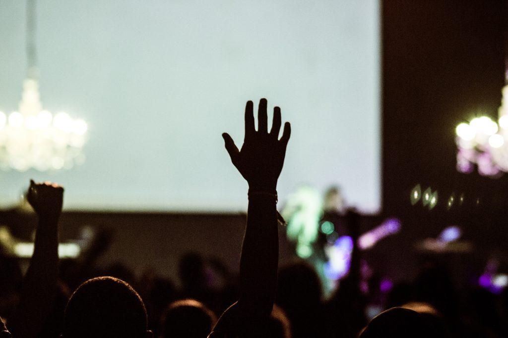 Audience collaboration blog raised hand
